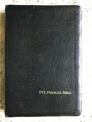 The Holy Bible Ptl Parallel King James The Living Bible Large Print Concordance