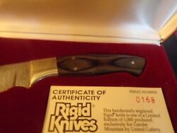 Rigid Japan Large Hunting Knife - New Limited Edition Deer Etch Clip Point Bowie