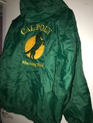 Vtg 90s Cal Poly Mustangs Jacket Hoody Marching Band School Issued Edition Usa