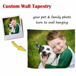 Personalised Custom Wall Tapestry Wall Hangings Bedspread Blankets Poster Decor