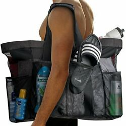 Extra Large Beach Bags and Totes 30 XXL Mesh Tote Bag with Pockets amp; Zipper $12.35