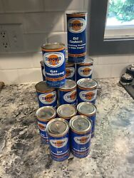 Lot Of 13 Vintage Sta-power Gas Conditioner 5, 12, 16 Oz Sealed Full Cans