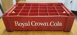 Vintage 24 Bottle Royal Crown Cola Plastic Crate Made By Union Carbide