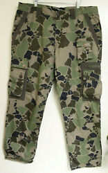 Play Cloths Mens Straight Leg Cargo Pants Camouflage Size 40w 33l