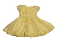 Vintage 1950's Girls Yellow Lined Nylon Party Dress Approximate Size 3-4 Years $76.00