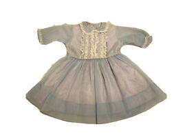 Vintage 1950's Girls Blue Lined Nylon Party Dress Approx Size 3-4 Years $66.00