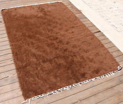 Turkish Rug 50''x77 Hand Woven Siirt Mohair Rug 128x196cm No Dyes