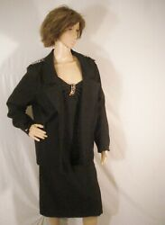Black Outfit Heidi J. Evening Wear Sophisticated Chic Dress Jacket ML $69.00