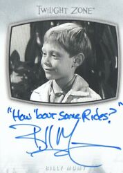 The Twilight Zone Archives 2020 Edition - Ai-23 Billy Mumy Autograph 10-25
