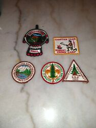 Assortment Lot Of Scout Camp Patches 1963-1971 Amaquonsippi Trail Robert...