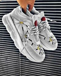 STM Design Thick Sole Shoes White Men Sneakers $54.90