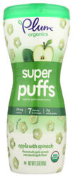 Plum Organics Super Puff Green Spinach Apple Pack Of 4, 1.5 Oz. Containers