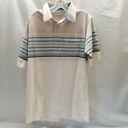 Palmland Club Polo Vintage Classic Collared Shirt Men Sz Med Retro Hipster 90s
