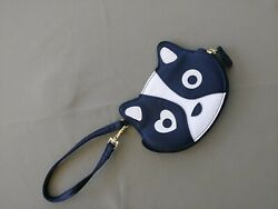 BETSEY JOHNSON PUPPY LUV  RACCOON COIN PURSE WRISTLET $12.00