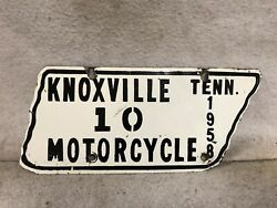 Vintage 1958 Knoxville Tennessee Motorcycle License Plate