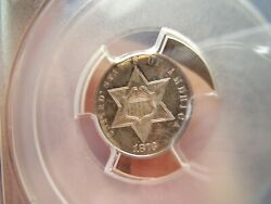 1873 Proof 3 Cent Silver Pcgs Pf64 Just 600 Minted Total
