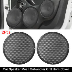 2pcs 10'' Car Audio Speaker Cover Mesh Subwoofer Grill Horn Guard Protector