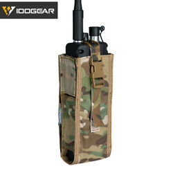 Idogear Tactical Radio Pouch For Walkie Talkie Holder Molle Prc148/152 Paintball