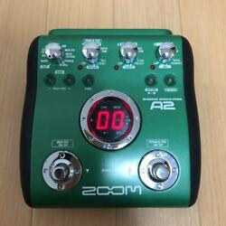 Zoom Acoustic Effector A2 Green Black Music Equipment Main Unit Only Used