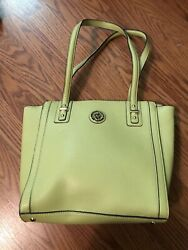 Anne Klein Purse Bag TOTE Lime Green Gold Hardware NWOT $9.99
