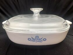 Extremely Rare Corningware Blue Cornflower Dish. Comes With Lid. Free Shipping.