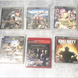 Play Station 3 Sony Game Bundle Set Of 6 Video Games Electronic Games Ps3 Games