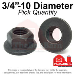 3/4-10 Grade 8 G Hex Flange Top Lock Nuts Coarse Phos And Oil Pick Quantity