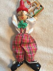 Pinocchio Wooden Marionette Disney Italy Wood Toy Vintage Puppet Doll Zambiasi