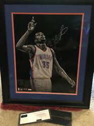 Signed Kevin Durant 35 Okc 16 X 20 Framed Photo Numbered