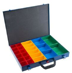 Rs Pro Small Part Storage Case 65x440x370mm 23-compartments Foam Lined Lid, Blue