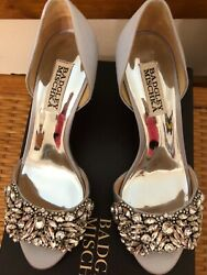 NEW Badgley Mischka Hansen Silver Evening Shoes US Women#x27;s 6.5 NEW IN BOX $55.00