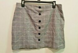 Cute Plaid Button Skirt by Forever 21 Size OX $3.50