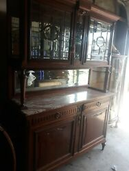 Antique French Cupboard Marble Top