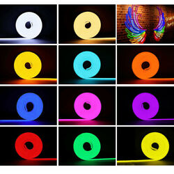 164ft 12v Smd2835 Silicone Vibe Led Neon Lights Strip Ktv Boat Home Party Decor