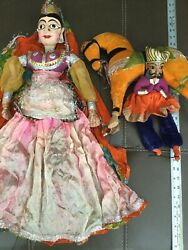 Vintage Marionette Dolls Horse And Rider Indian Princess Gypsy