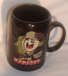 Vintage Tasmanian Devil Marines Mug In Very Good Condition