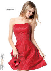 Sherri Hill 51546 Short Cocktail Dress Lowest Price Guarantee New Authentic