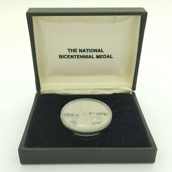 The National Bicentennial Medal 1776-1976 American Revolution Silver Coin