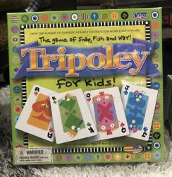 Tripoley For Kids Game Of Snap Fish And War Euc Family Card Game Brand New