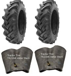 2 New Tractor Tires And 2 Tubes 13.6 38 Gtk R1 8 Ply Tubetype 13.6x38 Fs