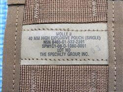 Lot Of 12 High Explosive Single Pouch Molle Ii 40 Mm Coyote Tan 8465-01-532-2391