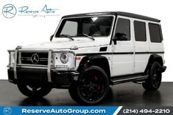 2017 Mercedes-Benz G-Class AMG G63 Designo Leather Pkg Carbon Fiber Pkg 2017 Mercedes-Benz G-Class Polar White with 33566 Miles available now!
