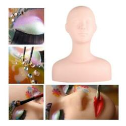 Silicon Makeup Massage Practice Training Head Face Model Cosmetology Mannequin