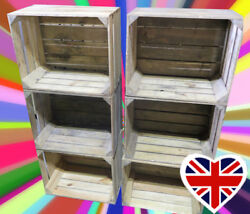 Apple Crates - Choose Your Qty - Rustic And Vintage Wooden Boxes - Free Delivery