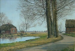 Ole Ring 1902-1972 Denmark Farm Pond Path Sales To 47475 Christieand039s Provenance