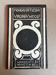 Monday Or Tuesday By Virginia Woolf First Uk Edition 1921 Hogarth Rare