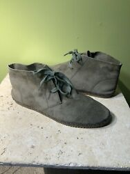Aetrex Ladies Addison Lace Up Ankle Boots Olive Suede Eu 40 - Us 8/8.5