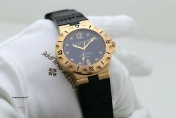 Bulgari Diagono Scuba Yellow Gold - Box & Papers