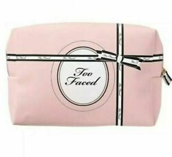 Too Faced Makeup Cosmetic Bag Pink amp; Black New $4.99