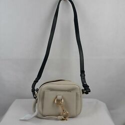 See By Chloe Tony Small Bucket Leather Shoulder Bag Cement Beige P 009 $250.00